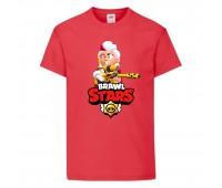 Футболка детская Brawl Stars Belle Gold (Бравл Старс Бэлль Золотая) красная 104 см