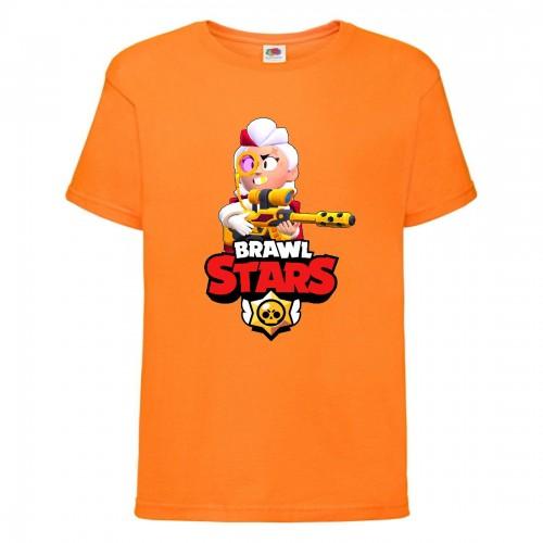 Футболка детская Brawl Stars Belle Gold (Бравл Старс Бэлль Золотая) оранжевая 104 см