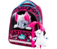 Рюкзак-ранец DeLune 9-123 для девочек школьный ортопедический + пенал и сумка для обуви