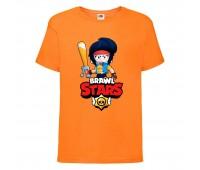 Футболка детская Brawl Stars Bibi Avenger (Бравл Старс Биби Мстительница) оранжевая 104 см
