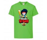 Футболка детская Brawl Stars Bibi Avenger (Бравл Старс Биби Мстительница) светлозеленая 104 см
