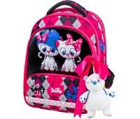 Рюкзак-ранец DeLune 9-124 для девочек школьный ортопедический + пенал и сумка для обуви