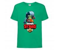 Футболка детская Brawl Stars Bibi Zombie (Бравл Старс Биби Зомби) зеленая 104 см