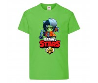 Футболка детская Brawl Stars Bibi Zombie (Бравл Старс Биби Зомби) светлозеленая 104 см