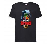 Футболка детская Brawl Stars Bibi Zombie (Бравл Старс Биби Зомби) черная 104 см