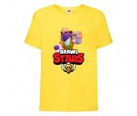 Футболка детская Brawl Stars Caveman Frank (Бравл Старс Фрэнк Пещерный) желтая 104 см