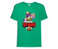 Футболка детская Brawl Stars Caveman Frank (Бравл Старс Фрэнк Пещерный) зеленая 104 см