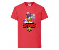 Футболка детская Brawl Stars Caveman Frank (Бравл Старс Фрэнк Пещерный) красная 104 см