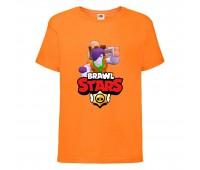 Футболка детская Brawl Stars Caveman Frank (Бравл Старс Фрэнк Пещерный) оранжевая 104 см