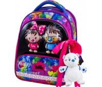 Рюкзак-ранец DeLune 9-125 для девочек школьный ортопедический + пенал и сумка для обуви