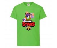 Футболка детская Brawl Stars Caveman Frank (Бравл Старс Фрэнк Пещерный) светлозеленая 104 см