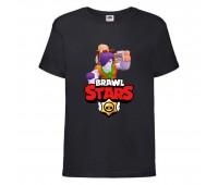 Футболка детская Brawl Stars Caveman Frank (Бравл Старс Фрэнк Пещерный) черная 104 см