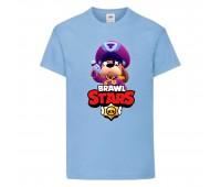 Футболка детская Brawl Stars Colonel Ruffs (Бравл Старс Генерал Гавс) голубая 104 см