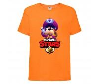 Футболка детская Brawl Stars Colonel Ruffs (Бравл Старс Генерал Гавс) оранжевая 104 см