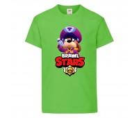 Футболка детская Brawl Stars Colonel Ruffs (Бравл Старс Генерал Гавс) светлозеленая 104 см