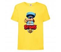 Футболка детская Brawl Stars Colonel Ruffs 70 lvl (Бравл Старс Генерал Гавс 70 ур) желтая 104 см
