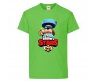 Футболка детская Brawl Stars Colonel Ruffs 70 lvl (Бравл Старс Генерал Гавс 70 ур) светлозеленая 104 см