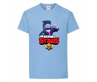 Футболка детская Brawl Stars DJ Frank (Бравл Старс Фрэнк Диджей) голубая 104 см
