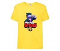 Футболка детская Brawl Stars DJ Frank (Бравл Старс Фрэнк Диджей) желтая 104 см