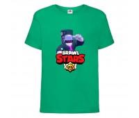 Футболка детская Brawl Stars DJ Frank (Бравл Старс Фрэнк Диджей) зеленая 104 см