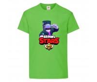 Футболка детская Brawl Stars DJ Frank (Бравл Старс Фрэнк Диджей) светлозеленая 104 см