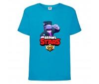 Футболка детская Brawl Stars DJ Frank (Бравл Старс Фрэнк Диджей) синяя 104 см