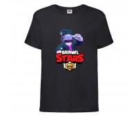 Футболка детская Brawl Stars DJ Frank (Бравл Старс Фрэнк Диджей) черная 104 см