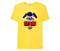 Футболка детская Brawl Stars Edgar (Бравл Старс Эдгар) желтая 104 см