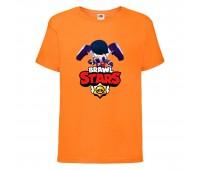 Футболка детская Brawl Stars Edgar (Бравл Старс Эдгар) оранжевая 104 см
