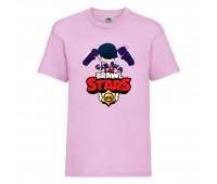 Футболка детская Brawl Stars Edgar (Бравл Старс Эдгар) розовая 104 см