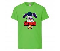 Футболка детская Brawl Stars Edgar (Бравл Старс Эдгар) светлозеленая 104 см