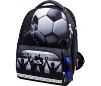 Рюкзак-ранец DeLune 10-006 школьный ортопедический с 3D изображением серый с синим