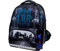 Рюкзак-ранец DeLune 10-007 школьный ортопедический с 3D изображением серый с синим