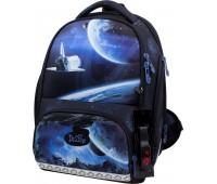 Рюкзак-ранец DeLune 10-008 школьный ортопедический с 3D изображением серый с синим