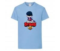 Футболка детская Brawl Stars Edgar 2 (Бравл Старс Эдгар 2) голубая 104 см