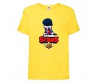 Футболка детская Brawl Stars Edgar 2 (Бравл Старс Эдгар 2) желтая 104 см