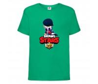 Футболка детская Brawl Stars Edgar 2 (Бравл Старс Эдгар 2) зеленая 104 см