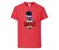 Футболка детская Brawl Stars Edgar 2 (Бравл Старс Эдгар 2) красная 104 см