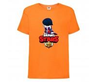 Футболка детская Brawl Stars Edgar 2 (Бравл Старс Эдгар 2) оранжевая 104 см