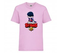 Футболка детская Brawl Stars Edgar 2 (Бравл Старс Эдгар 2) розовая 104 см
