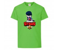 Футболка детская Brawl Stars Edgar 2 (Бравл Старс Эдгар 2) светлозеленая 104 см