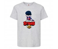 Футболка детская Brawl Stars Edgar 2 (Бравл Старс Эдгар 2) серая 104 см