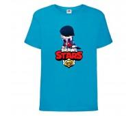 Футболка детская Brawl Stars Edgar 2 (Бравл Старс Эдгар 2) синяя 104 см