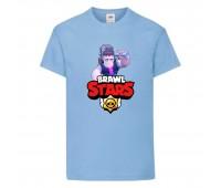 Футболка детская Brawl Stars Frank (Бравл Старс Фрэнк) голубая 104 см