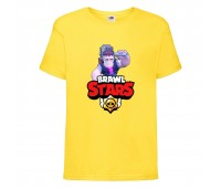 Футболка детская Brawl Stars Frank (Бравл Старс Фрэнк) желтая 104 см