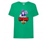 Футболка детская Brawl Stars Frank (Бравл Старс Фрэнк) зеленая 104 см