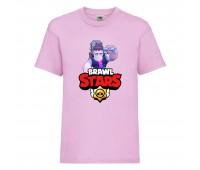 Футболка детская Brawl Stars Frank (Бравл Старс Фрэнк) розовая 104 см