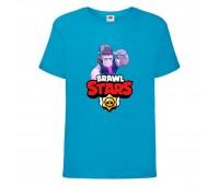 Футболка детская Brawl Stars Frank (Бравл Старс Фрэнк) синяя 104 см