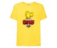 Футболка детская Brawl Stars Frank Gold (Бравл Старс Фрэнк Золотой) желтая 104 см