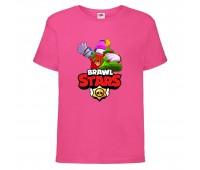 Футболка детская Brawl Stars Holiday Frank (Бравл Старс Фрэнк Праздничный) малиновая 104 см